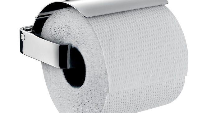 Emco Loft toiletrolhouder met klep chroom