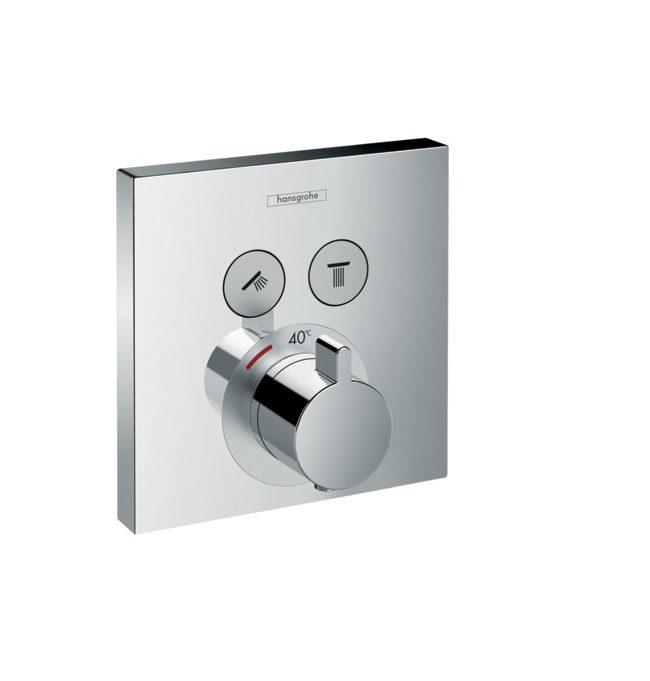 Hansgrohe ShowerSelect - thermostaat afbouwdeel voor 2 functies