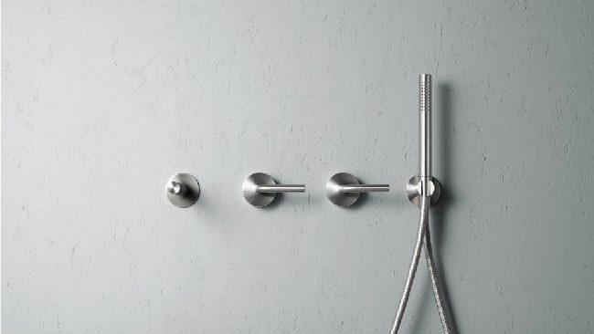 Quadro Levo. 14 63. Wall Mounted Mixer Set-Hand Shower-Spout. 01